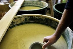 Washing the clay