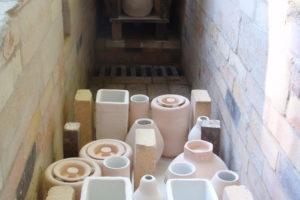 Preparing the wood-burning kiln