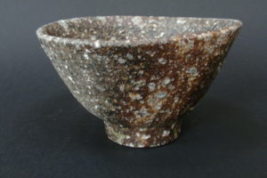 Steinzeug Teeschale mit ishihaze