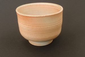 Natural porcelain matcha tea bowl
