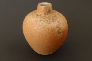Small vase – kaolin clay – glaze deposits on the shoulders