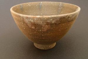 Chawan - Teeschale im Fuchs (Verbindung zwischen Brennofen und Rauchfang) gebrannt