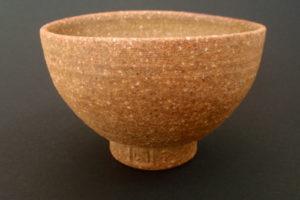 Bellied sencha bowl – pale clay (Mostviertel)