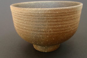 Matcha bowl – ferrous clay, fired in the flue (area between the kiln and the chimney)