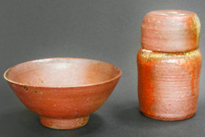 Tea bowl and tea caddy (chaire)